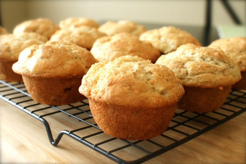 Banana breakfast muffins (gluten free! coconut flour! low fat!)