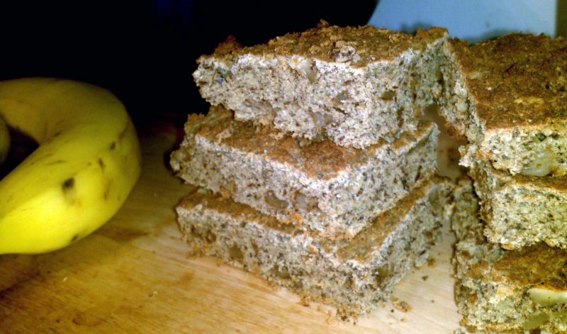 Grain-free Banana Blondies